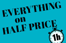 Get more time! Everything on half price with every purchase!